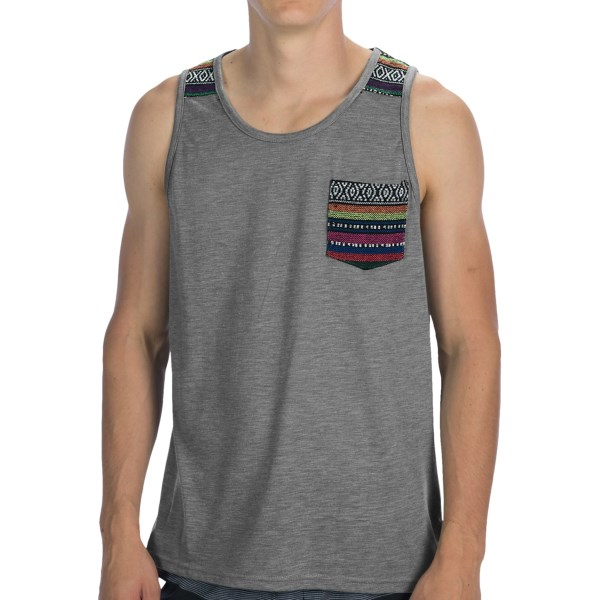 Threads 4 Thought Jacquard Trim Tank Top - Single Pocket (For Men)