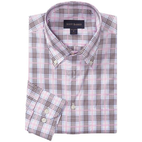 Scott Barber James Fancy Check Shirt - Button Down, Long Sleeve (For Men)