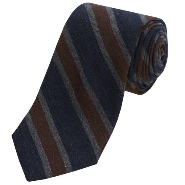 Altea Senna 2 Stripe Tie - Wool-Silk (For Men)