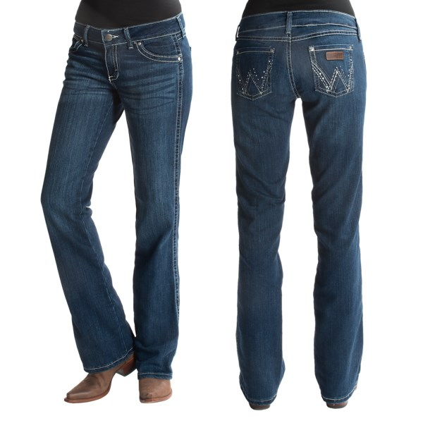 Wrangler Ultra Low-Rise Patch Jeans (For Women)