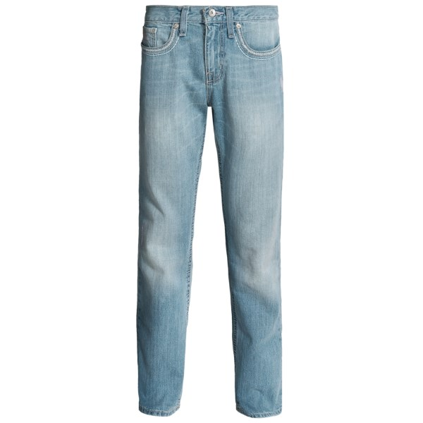 CLOSEOUTS . Contemporary western style, high-quality denim and a comfortable mid-rise make Cinchand#39;s Grant jeans a great choice for modern cowboys and hard-working fellas. Available Colors: INDIGO, BLEACHED WASHED DENIM, MEDIUM WASH, LIGHT WASH, DARK WASH, DIRTY DARK DENIM, LIGHT VINTAGE STONEWASH.