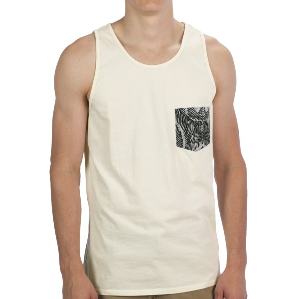 Altamont Peacock Printed Pocket Tank Top (For Men)