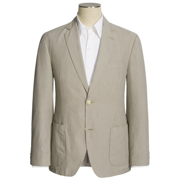 CLOSEOUTS . Every guy needs a business-appropriate sport coat to get him through a relentlessly hot summer, and Kroon delivers in this neutral-toned mini-stripe -- a style that pairs nicely with denims, khakis or light wool trousers. Available Colors: STONE.