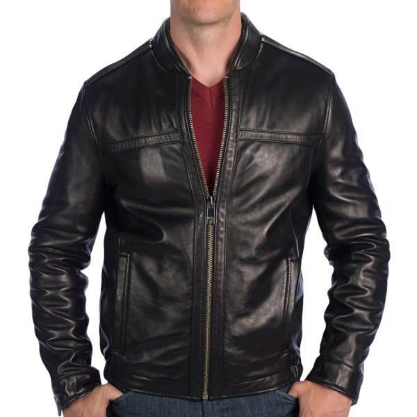 CLOSEOUTS . Marc New Yorkand#39;s Stanton jacket in gorgeous lambskin manages to walk the line between classic and edgy, with lightly quilted interior to take the chill off for an extended season of wear. Available Colors: BLACK. Sizes: M, L, XL, 2XL, S.
