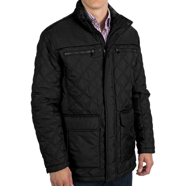 CLOSEOUTS . The field jacket goes uptown in Marc New York by Andrew Marcand#39;s Fulton -- a lightly quilted model of outerwear that offers just-right protection from moderate cold and damp, whether youand#39;re training foxhounds in the British countryside or heading out into the Big City. Available Colors: BLACK, GUNMETAL. Sizes: M, L, XL, 2XL.