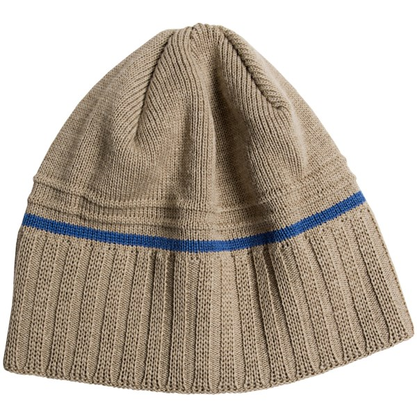 Chaos Cheque Beanie Hat - Wool Blend (For Men)