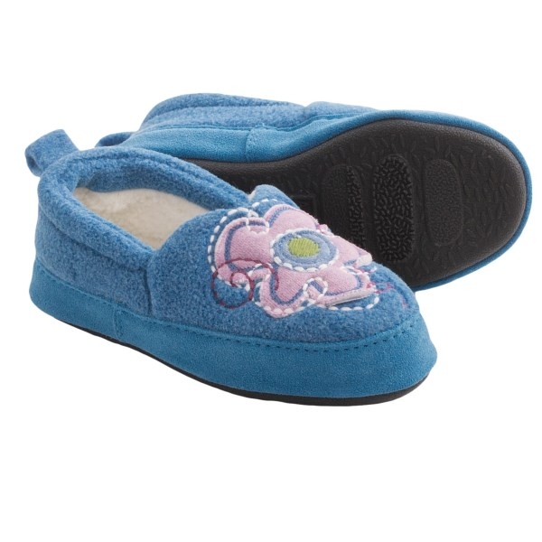 Acorn Flower Power Slippers - Fleece (for Girls)