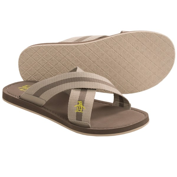 Penguin Footwear Poolside Cross Strap Sandals (For Men)