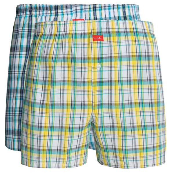 Luk Woven Plaid Boxers - 2-Pack (For Men)