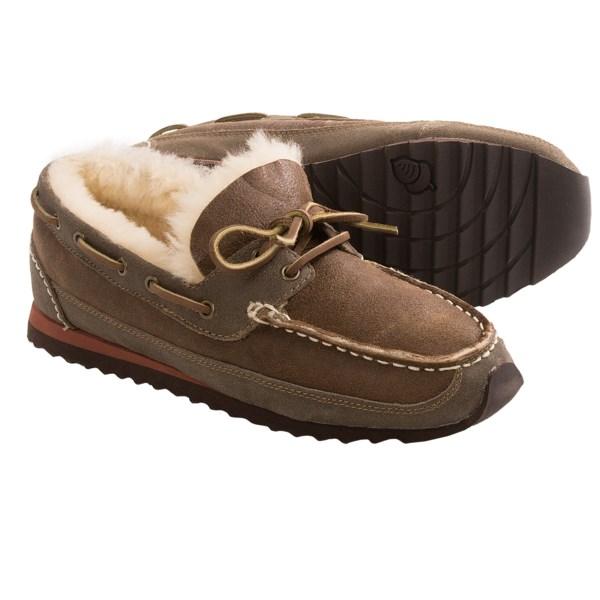 Acorn Sheepskin Sport Slippers - Sheepskin Lining (For Men)