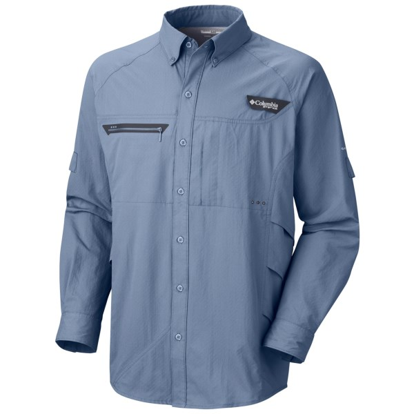 CLOSEOUTS . An anglers dream, Columbia Sportswearand#39;s Airgill Chill Zero shirt keeps you comfortable and protects your skin on the water with advanced cooling technology and UPF 50 sun protection. Omni Freezeand#174; ZERO technology cools your skin as you sweat and accelerates wicking to keep you dry. Available Colors: BEACON, FOSSIL, TIPPET. Sizes: S, M, L, XL, 2XL, XS.