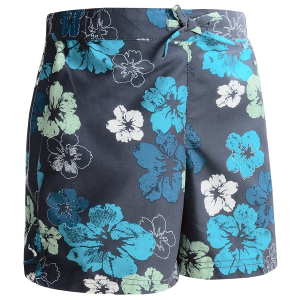 White Sierra Sunset Lake Shorts - Upf 30  Peached Twill (for Girls)
