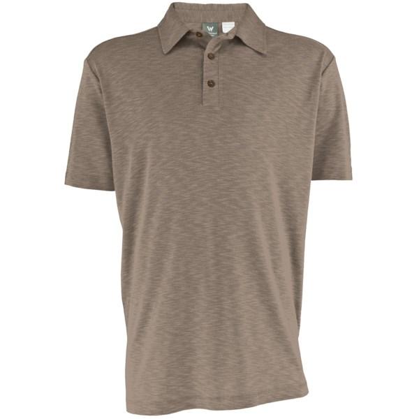 White Sierra Main Street Polo Shirt - Short Sleeve (for Men)