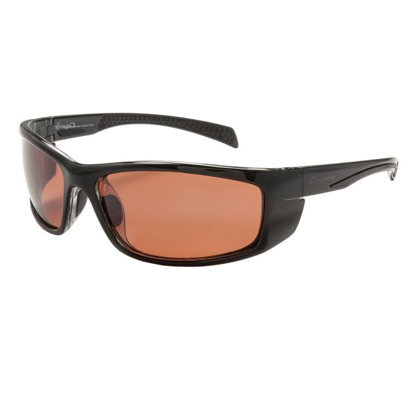 CLOSEOUTS . Coyote Eyewear Volt sunglasses expertly combine lightweight, flexible TR90 Grilamidand#174; nylon frames in a sporty wrap-around style with glare-cutting polarized lenses. Available Colors: BLACK/ROSE MIRROR, TORTISE/BROWN.