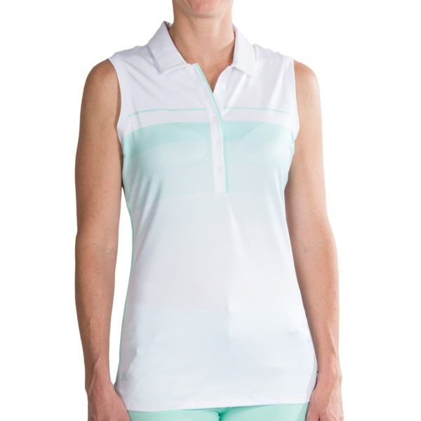 Adidas Golf Puremotion Gradation Polo Shirt Sleeveless (For Women)