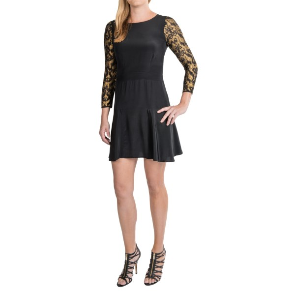 Twelfth Street by Cynthia Vincent Silk Flounce Dress - 3/4 Sleeve (For Women)