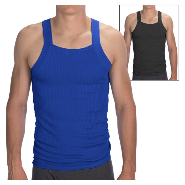 2(x)ist Jersey Square Cut Tank Top 2 Pack (For Men)