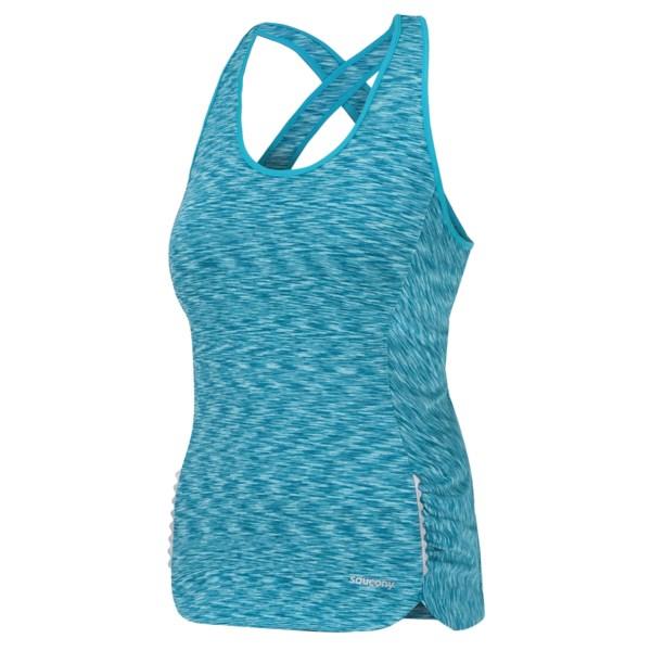 Saucony Space Dye Tank Top - Criss-cross Back (for Women)