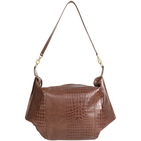 CLOSEOUTS . The Twelfth St. by Cynthia Vincent Dunaway hobo bag embraces elegant simplicity with a croc-embossed pattern on the soft leather exterior. The lined interior is plenty spacious, with a zip security pocket to accompany gold-tone hardware. Available Colors: BLACK, NATURAL.