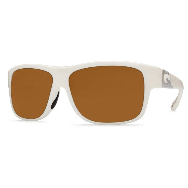CLOSEOUTS . Costa Caye sunglasses are precision eyewear for hitting the streets or kicking back on a small, sandy island. A full-frame wayfarer, the 400P polycarbonate lenses reduce glare and deliver clear vision. Available Colors: TORTOISE/AMBER 400P, MATTE BLACK/GREY 400P, WHITE/AMBER 400P, WHITE/GREY 400P, BLACK PEARL/ GREY 400P.