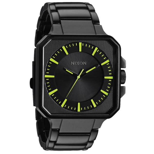 CLOSEOUTS . Clean, dignified and with an understated elegance, Nixonand#39;s Platform watch exudes confidence out of its black stainless steel construction with silver-tone hands. Available Colors: BLACK/BLACK, MATTE BLACK/GOLD, STEEL GRAY, ALL BLACK/LUMINATE, DRAB.