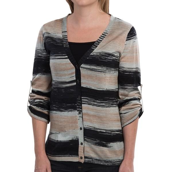 EMU Greta Cardigan Sweater - Merino Wool, Long Roll-Up Sleeve (For Women)