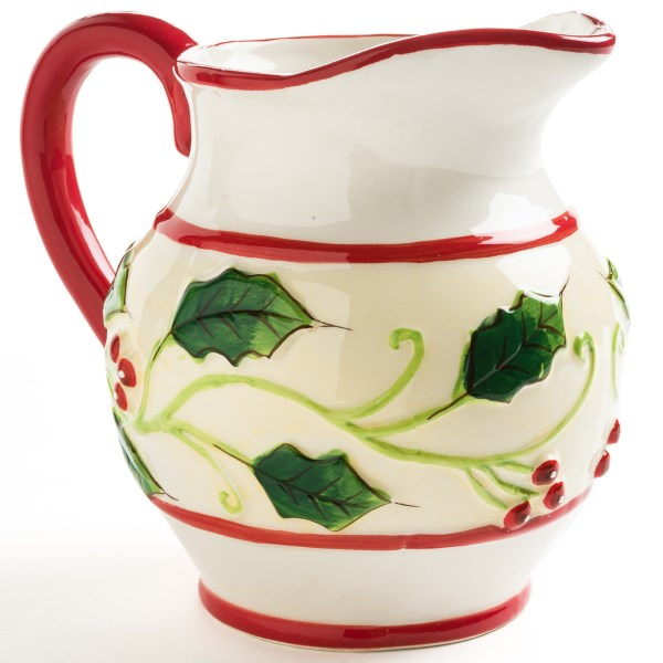 CLOSEOUTS . We canand#39;t think of a more fun way to serve beverages during the andquot;holly daysandquot; than from this DII Holiday Holly pitcher! Available Colors: HOLLY.