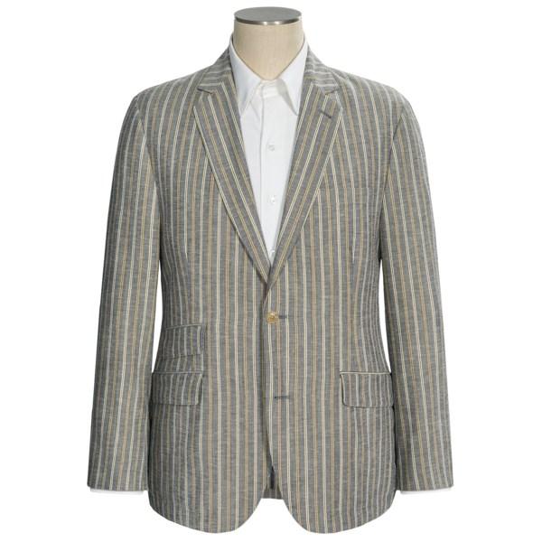 Flynt Sparrow-W Wide Stripe Soft Sport Coat - Lightweight (For Men)
