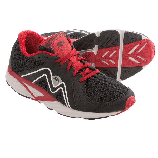 CLOSEOUTS . Karhuand#39;s Stable 3 Fulcrum running shoes deliver efficiency for everyday stability training. Fulcrum Technology makes this a great choice for overpronators and extreme heel-strikers. Available Colors: BLACK/RED. Sizes: 8, 8.5, 9, 9.5, 10, 10.5, 11, 11.5, 12, 12.5.