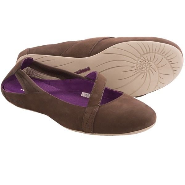 CLOSEOUTS . A stylish deviation from the ballet-flat norm, Patagoniaand#39;s Maha Sling shoes feature a low-profile design with a sleek, feminine silhouette and asymmetric instep strap for a pretty touch of distinction that goes wonderfully with almost anything. Available Colors: FORGE GREY, SABLE BROWN, WAXED RED. Sizes: 5, 5.5, 6, 6.5, 7, 7.5, 8, 8.5, 9, 9.5, 10, 10.5, 11.