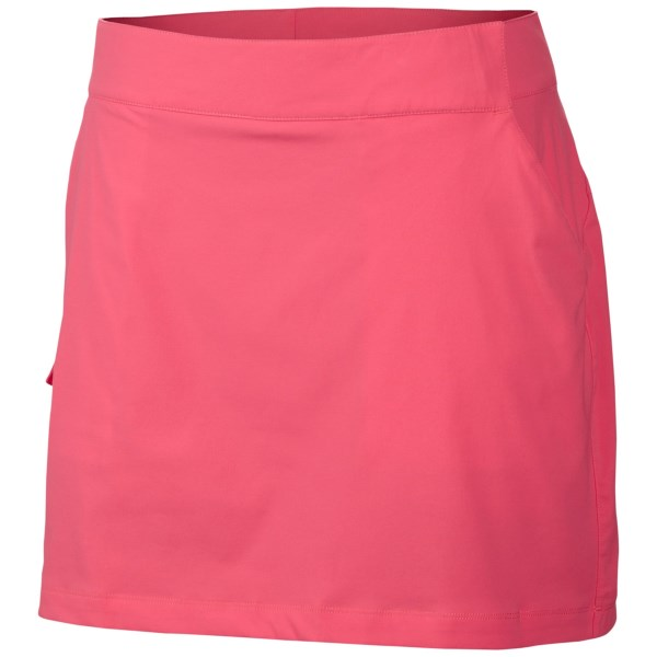 CLOSEOUTS . Bring some flair to the fishies in Columbia Sportswearand#39;s PFG Armadale II skort. Advanced wicking and sun-repelling technologies keep you cool, block harmful UV rays and resist stains, keeping you comfortable, cute and clean all day long. Available Colors: HOT CORAL, TANGO PINK. Sizes: 2, 4, 6, 8, 10, 12, 14, 16.