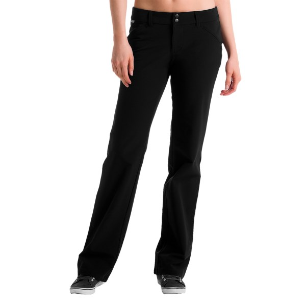 CLOSEOUTS . Itand#39;s only going to take a nano-second for you to be ecstatic about your purchase of Loleand#39;s Traveler Nano Carbon pants. Nice enough for dinner out and technical enough for any adventure you have in mind. Moisture wicking and wrinkle resistant. Available Colors: BLACK. Sizes: 2, 4, 6, 8, 10, 12, 14.