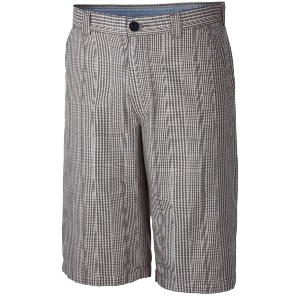 CLOSEOUTS . An easy-wearing chino in soft, sturdy poly-cotton weave, Columbia Sportswearand#39;s Washed Out II Novelty shorts offer timeless good looks in a casual, wear-with-everything style. Available Colors: BOULDER, FOSSIL, GRAVEL, WHALE.