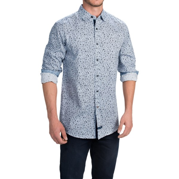 English Laundry Floral Print Sport Shirt - Long Sleeve (for Men)