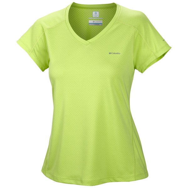 CLOSEOUTS . True to its name, Columbia Sportswearand#39;s Zero Rules shirt really is a rule breaker. This baby features sweat-activated cooling technology and superlight, textured interior to instantly dry and chill sticky skin. Available Colors: AIRSTREAM, WHITENED VIOLET, HOT CORAL, LASER RED, TIPPET. Sizes: XL, L, M, S, XS.