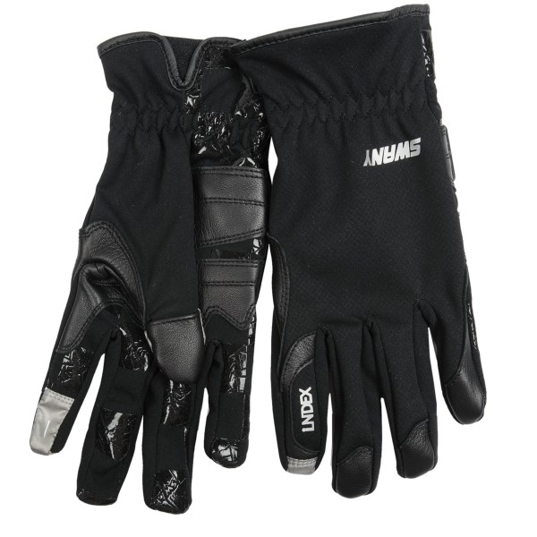 CLOSEOUTS . Swanyand#39;s I-Finger gloves provide low-bulk protection in chilly weather and allow you to use electronic devices without removing gloves. Available Colors: BLACK, LIGHT GREY. Sizes: S, M, L, XL.