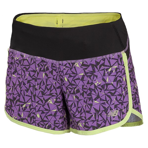 New Balance Impact Graphic Shorts - Built-In Brief, 4? (For Women)