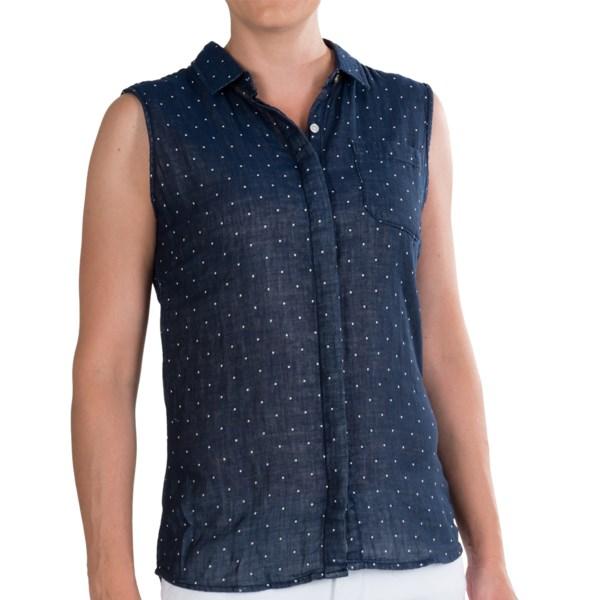 J.A.C.H.S. Single Pocket Linen Shirt - Sleeveless (For Women)
