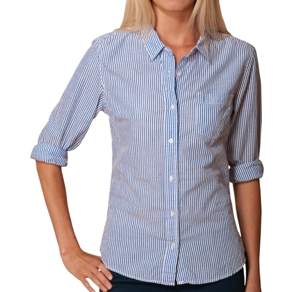 J.A.C.H.S. Pinstripe Button-Front Shirt - Long Sleeve (For Women)
