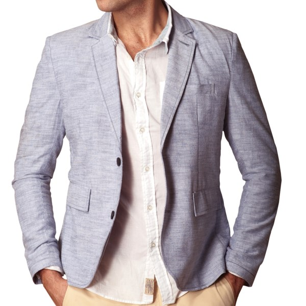 J.A.C.H.S. Two-Button Chambray Blazer (For Men)
