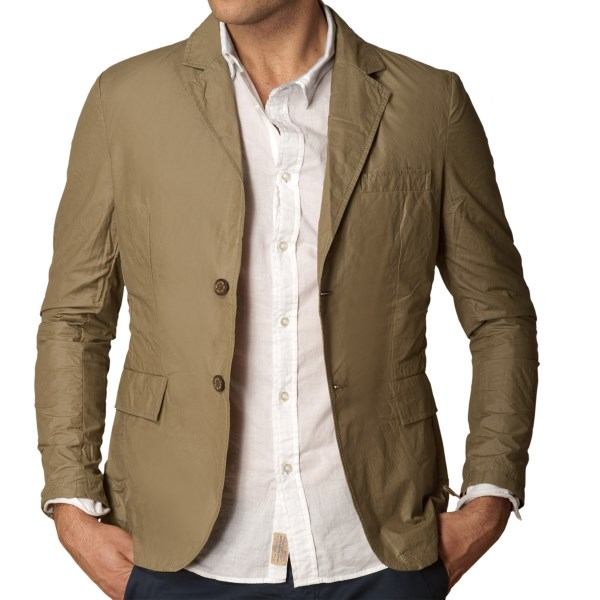 J.A.C.H.S. Waxed Two-Button Blazer (For Men)