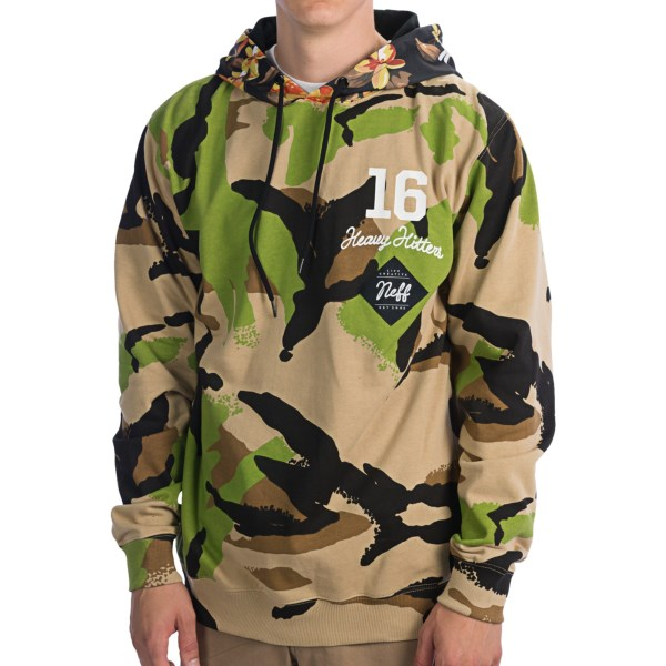 CLOSEOUTS . Everybody knows the closest youand#39;ll ever get to hunting is wandering around the food court at the mall in search of the dollar menu, so embrace your suburban angst in Neffand#39;s Commando hoodie and order the extra-large life. Available Colors: CAMO. Sizes: S, M, L, XL.