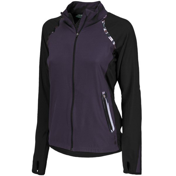 CLOSEOUTS . Super stylish and highly breathable, New Balanceand#39;s HKNB Run jacket is designed by Heidi Klum and features a mesh back panel for generous ventilation and stretch panels to increase your range of motion. Available Colors: BLACK, COSMIC CORAL, WHITE MINT. Sizes: XS, S, M, L, XL, 2XL.