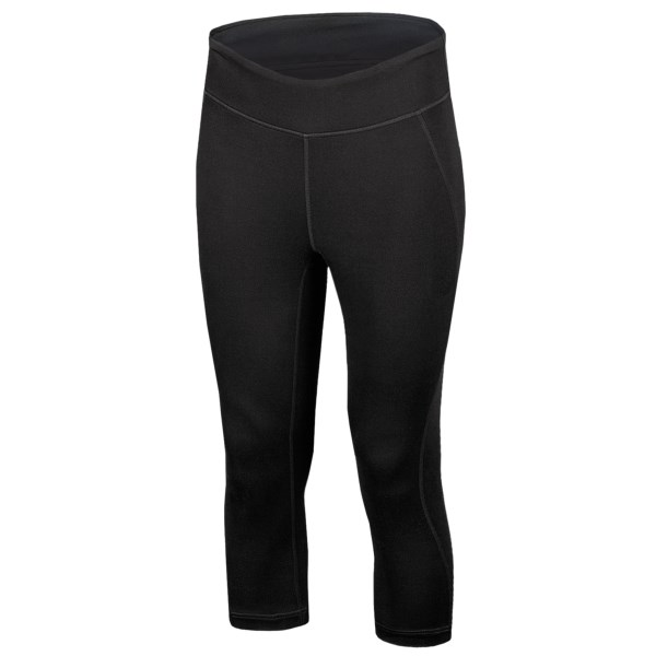 CLOSEOUTS . New Balanceand#39;s Spree capris feature soft, sweat-wicking fabric that allows you to focus on your poses instead of your discomfort. Available Colors: BLACK, ELDERBERRY, DEEP BLUE, BLACK HEATHER. Sizes: 2XS, XS, S, M, L, XL, 2XL.