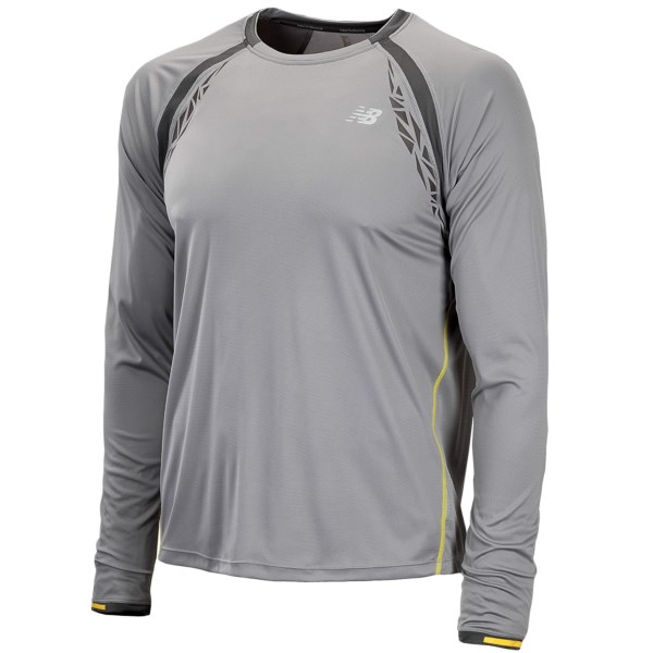CLOSEOUTS . New Balanceand#39;s Impact shirt is made from an intuitive cooling material that starts working when you start perspiring. The fast-drying, moisture-wicking fabric is treated to provide UPF 30  sun protection and has two-way air circulation, keeping your body cool when you start turning up the heat on the trail. Available Colors: BLACK, SILVER FILIGREE. Sizes: XS, S, M, L, XL, 2XL.