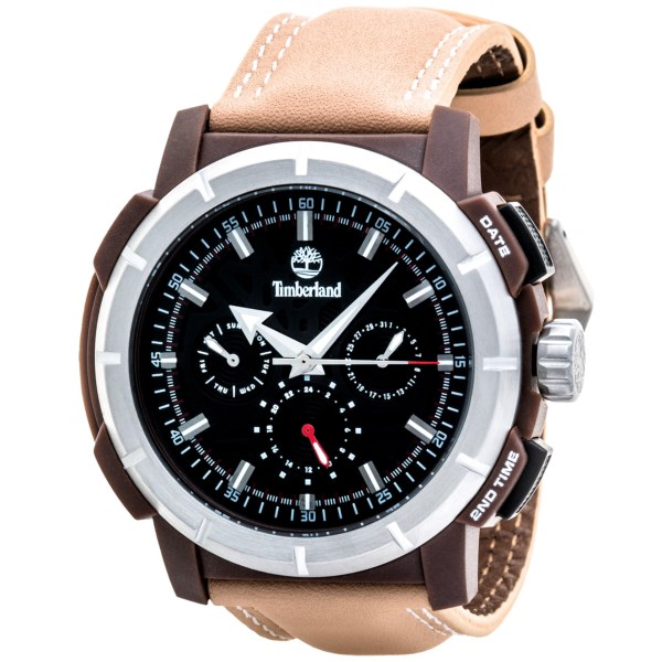 Timberland Edgewood Multifunction Watch - Leather Strap (for Men)