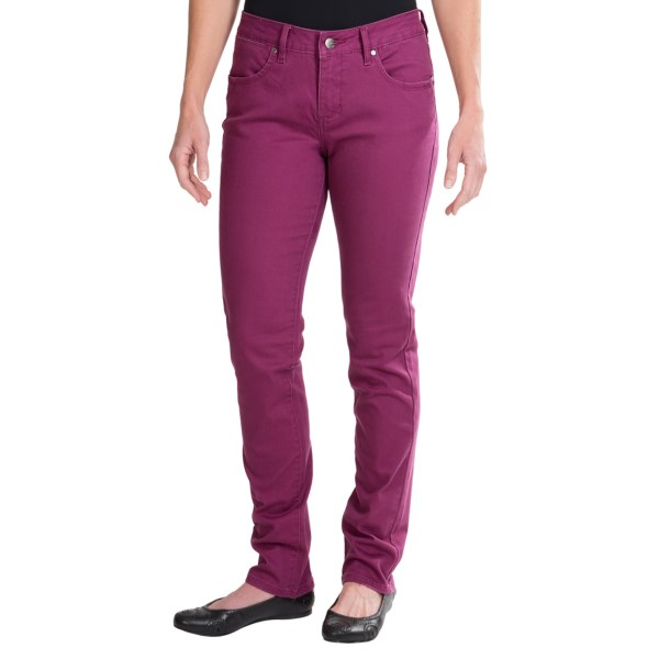 CLOSEOUTS . Change up your denim game with JAGand#39;s Jane colored slim jeans, styled in stretchy-soft cotton that adds a dash of color to your traditional blue denim rotation. Available Colors: DARK BERRY. Sizes: 2, 4, 6, 8, 10, 12, 14, 16.