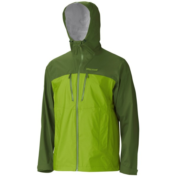 CLOSEOUTS . Marmotand#39;s Spectra jacket features a NanoPro waterproof breathable membrane to provide low-bulk, lightweight rain protection. Available Colors: COBALT BLUE/DARK AZURE, ROCKET RED/TEAM RED, BLACK, GREEN LICHEN/GREENLAND, GREEN MUSTARD/BROWN MOSS, PEAK BLUE/DARK SAPPHIRE, TEAM RED/DARK CRIMSON. Sizes: S, M, L, XL, 2XL.