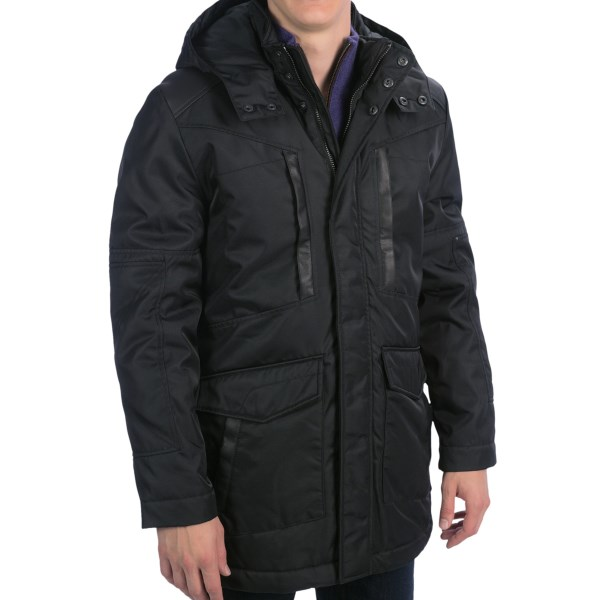 CLOSEOUTS . Infused with a bit more formality than your ski parka (especially without the hood), this Andrew Marc Oscar parka will keep you warm and sheltered from the cold winter winds that can sweep through the city. Available Colors: BLACK. Sizes: M, L, XL, 2XL.