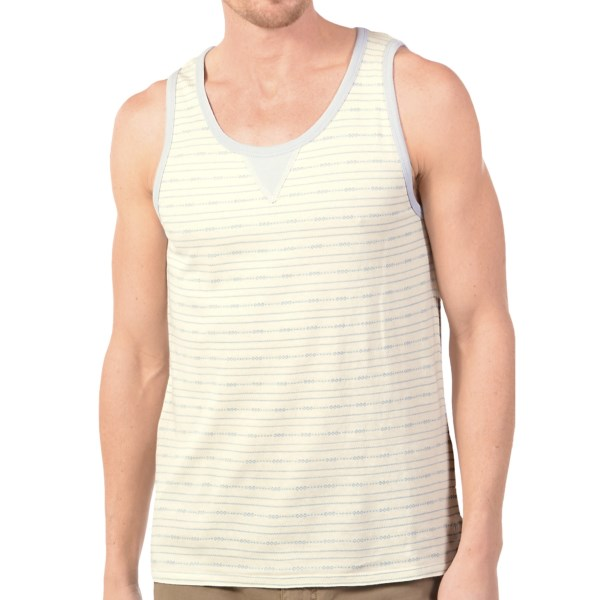 CLOSEOUTS . A retro-inspired design for warm-weather good looks, Gramicciand#39;s Blackwelder Diamond tank top is an instant favorite, complete with Gramicciand#39;s supersoft knit cotton with subtle diamond striping. Available Colors: CACTUS GREEN, RUSTY RED, SHELL WHITE, VAPOR BLUE. Sizes: S, M, L, XL, 2XL.